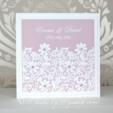 Daisy Lace Pocketfold Wedding Invitation